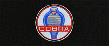 Mustang 1969-1973 Black Carpet Floor Mats 4PC w/Cobra Circle Logo on Fronts NEW!