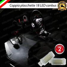 COPPIA PLACCHETTE 18 LED VANO PIEDI AUDI A4 B8 + AVANT CANBUS 6000K INTERNI