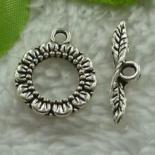free ship 70 sets tibet silver flower clasps 24x6`20x17mm #2740