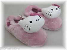 CLEARANCE KITTY PINK GLITTER  SLIPPERS BRAND NEW  SIZES