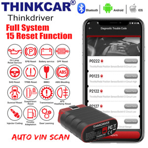 Thinkdriver Car OBD2 Scanner Bluetooth All System ABS SRS TPMS IMMO Oil Reset