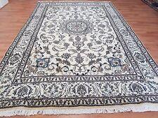 Top Quality Persian Alfombra Alfombra Anudada a Mano 9 la NAIN con seda Tamaño: 309X201 Cm