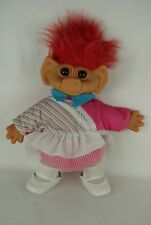 Uneeda Dam troll red hair TENNIS PRO outfit large doll 38 cm 90's