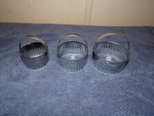 NEW 3 piece Fluted Silver Pastry Cutters Baking Cake Kitchen Tools Brand New