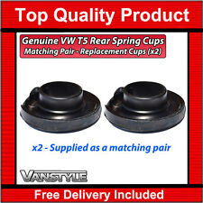 VW TRANSPORTER T5 GENUINE VW REAR LOWER RUBBER SPRING SEAT CUPS MOUNT CARAVELLE