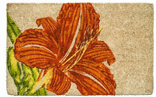 "DOOR MATS - GARDEN LILY COIR DOORMAT - 22"" X 35"" - WELCOME MAT - WILLIAMSBURG"