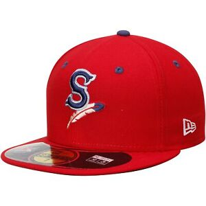 Spokane Indians New Era Authentic Home 59FIFTY Fitted Hat - Red