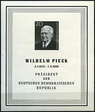 East Germany DDR 1960 SG#MSE517a President Pieck Mourning MNH M/S Sheet #D41883