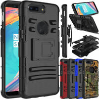 For OnePlus 5T Shockproof Stand Clip Slim Defender Impact Armor Hard Case Cover