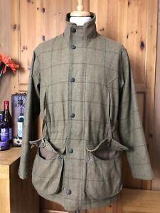 601 Men's BARBOUR Pure WOOL Sports DOGTOOTH Tweed FIELD Coat Jacket Shooting M