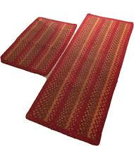 Braided rug Runner  Lot Of 2 Any Room Rug Multicolor Home Linen