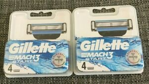 2 X GILLETTE MACH 3 START RAZOR BLADES PACK OF 4 BRAND NEW