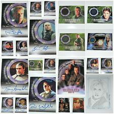 Stargate SG-1 Trading Cards ~ Autograph ~ Piecework Costume ~ Rittenhouse