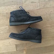 Hush Puppies Women warm chukka boots black waterproof leather