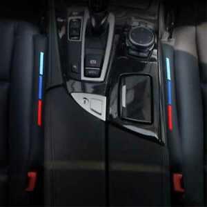 BIzTech ® 2PCS 46cm PU Faux Leather Car Seat Gap Filler M Sport Tech Power