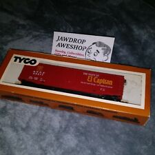 Vintage HO TYCO Box Car 50 Foot Plug Door Sante Fe 339A:300 HO SCALE TRAIN MODEL