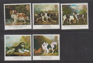 (F11-27) 1991 GB set of 5stamps Dog paintings (AB)