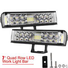 "Pair 7"" Inch 480W Led Headlights Lihgt Pods For Jeep Wrangler Cj Jk Lj 97-18"