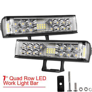 Autofeel Pair 7inch 860W LED Work Light Bar Pods Fog Spot Flood Combo Off Road