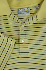 Augusta Nacional Golf Tienda Hombre amarillo & de Rayas Azules Algodón Camisa XL