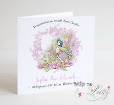 PERSONALISED JEMIMA PUDDLEDUCK NEW BABY Card - Congratulations Birth Baby
