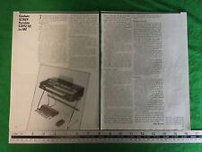 Articolo/entità GEOGRAFICA Godwin SC110/P ORGANO KEYBOARD-dalla fine del 1979