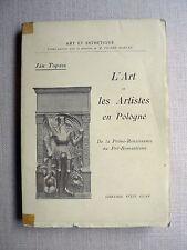 Jan Topass ART ET ARTISTES EN POLOGNE Prime-Renaissance au Pré-Romantisme 1926