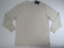 Roundtree & Yorke Mens String Crewneck Knit Long Sleeve Original Tee Large