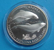 UKRAINE 2004 CU-NI COIN AZOV DOLPHIN BLACK SEA FAUNA ANIMAL WWF WILDLIFE REDBOOK