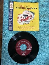 The Little Fireman 45rpm Childrens Vintage Vinyl Record