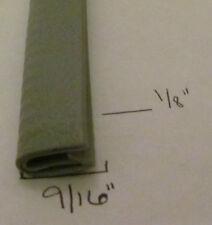 "1/8"" x 9/16"" GRAY Edge Trim Vinyl PVC Camper RV Boat Seal Lock Permanent Grip"