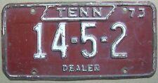 1973 TENNESEE DEALER LICENSE PLATE # 14-5-2
