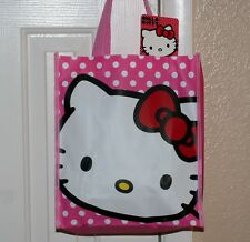 "HELLO KITTY Bobtail Cat Character SANRIO Small SHOPPING GIFT TOTE BAG 10"" x 12"""
