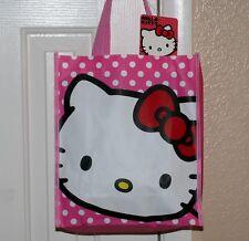 "HELLO KITTY Bobtail Cat Character SANRIO Small SHOPPING GIFT TOTE BAG 10"" x 12"""