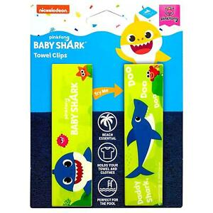 Pinkfong Daddy Baby Shark Towel Clips Green Secure Bag Lounge Chair Protection