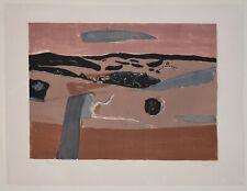 Listed French Artist HENRI HAYDEN, Signed Original Color Lithograph Paysage 1961