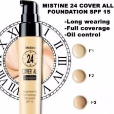 Mistine 24hr Cover All  Foundation SPF15 PA++ F3- Yellowish brown,Tan,Olive skin