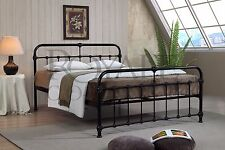 Mandy Double Metal Bed Frame Cream Hospital Style Small Double King Size Beds 3ft Single