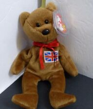 TY BEANIE BABY 1997 BRITTANIA WITH SEWN FLAG PATCH INDONESIAN TUSH TAG RARE