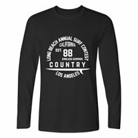 Long Beach California Annual Surf Contest Long Sleeve T-Shirt Cotton Tops Tee