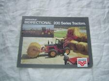 Versatile 256 276 200 series bidirectional tractor  brochure