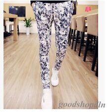 Hot Top Fashion Men's Slim Fit Floral Korean Nightclub Skinny Pants Trousers