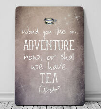 Would you like an adventure first? Peter pan quote A4 print metal sign decor
