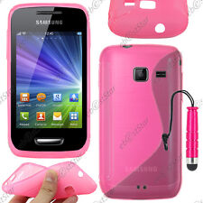 Housse Etui Coque Silicone S-line Gel Rose Samsung WAVE Y S5380 + Mini Stylet