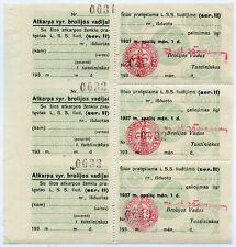 1937 LITHUANIA BOY SCOUT TAX REVENUE SHEET SCOUTING