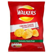 Walkers Tomato Ketchup Flavour Potato Crisps 32.5g 32 Bags Full Box