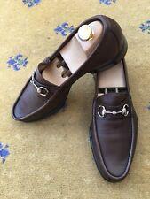 Scarpe da uomo Gucci marrone in pelle GUCCI MOCASSINO UK 9 US 10 EU 43
