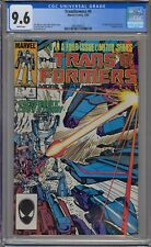 TRANSFORMERS #4 CGC 9.6 1ST SHOCKWAVE DINOBOTS CAMEO WHITE PAGES