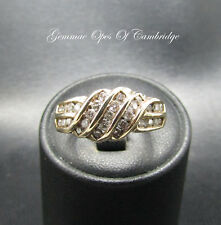 9ct Gold Diamond Channel Set Knot Ring Size N 5.1g 0.725 carats