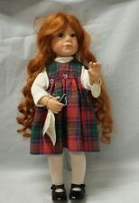 "Julie Good-Kruger Tiny Newborns Doll Good Kruger 115 of 500 COA 16"" Red Hair"